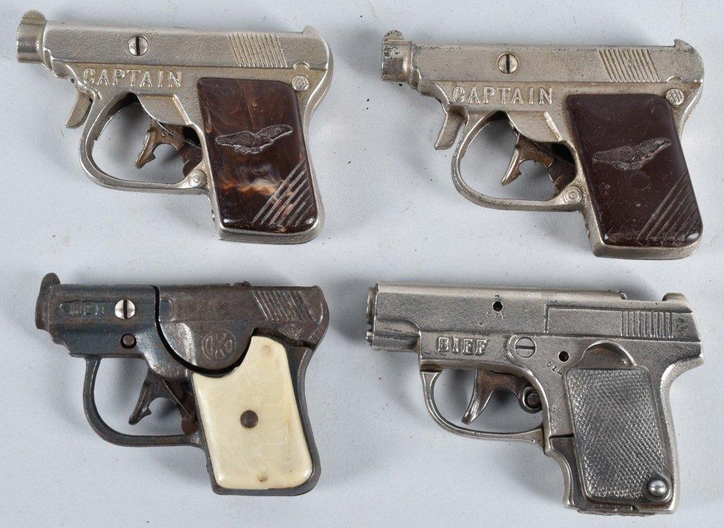 4-CAST IRON CAP GUNS