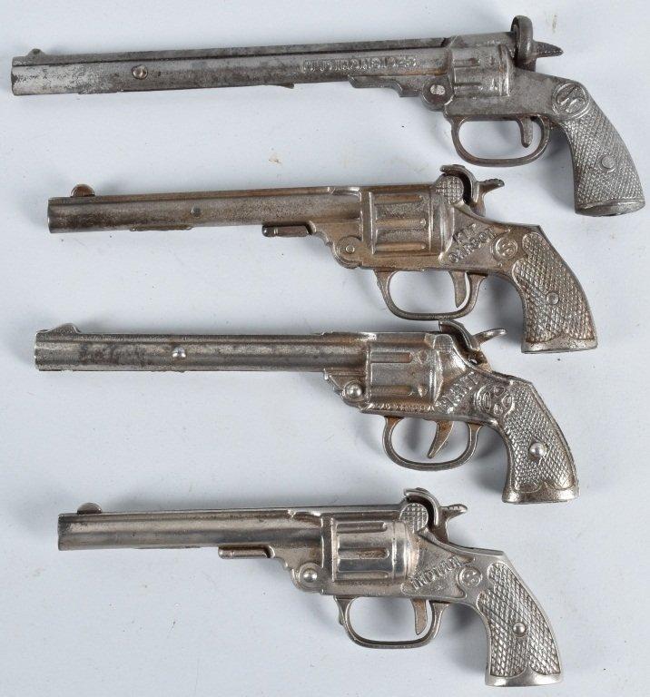 4-CAST IRON LONG BARREL CAP GUNS