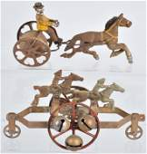 2-EARLY CAST IRON WATROUS BELL TOYS