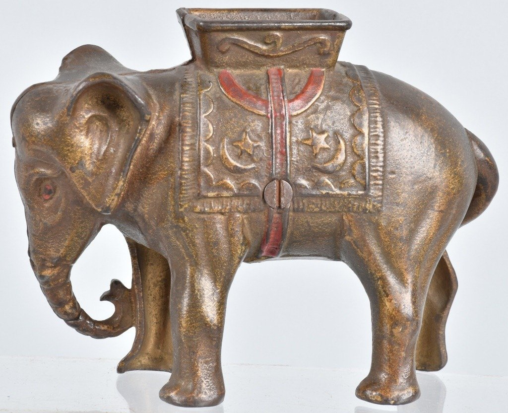 ELEPHANT WITH HOWDAH Large STILL BANK