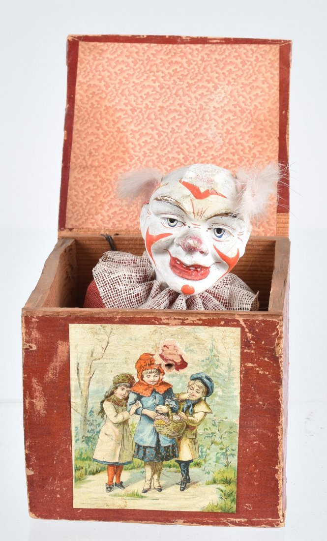 Early Composition CLOWN IN BOX
