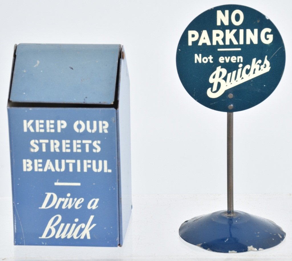 2-1930's BUICK TIN ADVERTISING TOYS