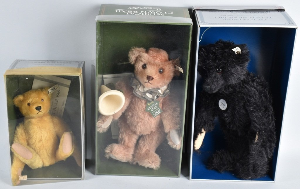3-STEIFF BEARS, BOXED