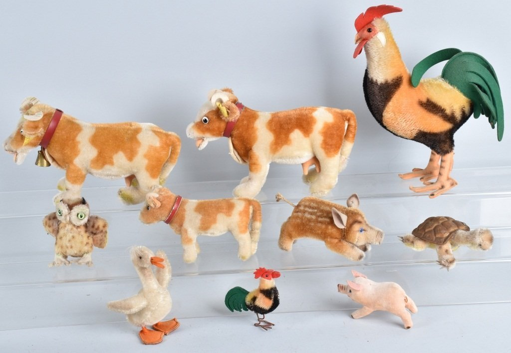 10-STEIFF ANIMALS, VINTAGE