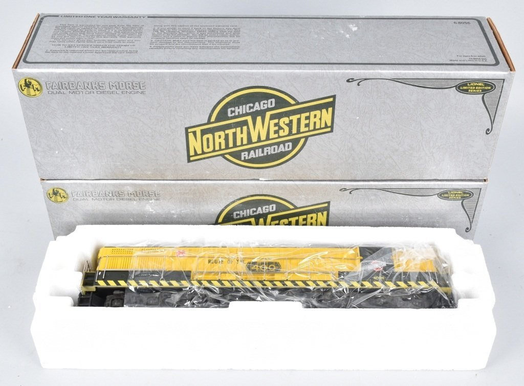 2- LIONEL CHICAGO NORTH WESTERN ENGINES, BOXED