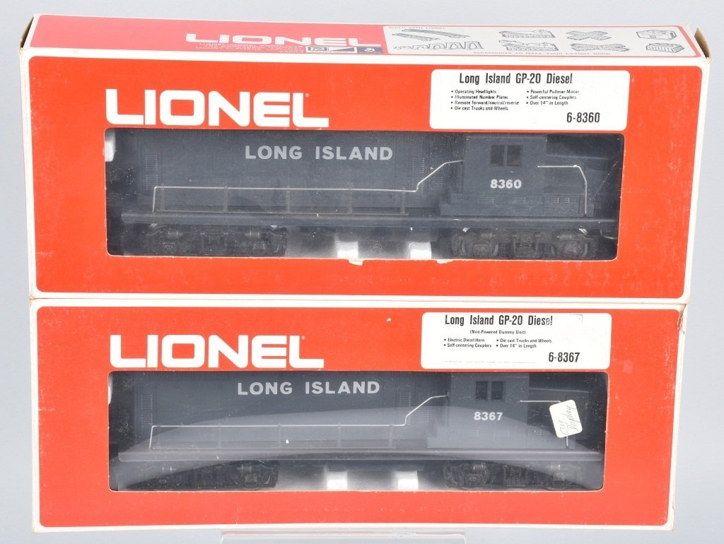 2-LIONEL LONG ISLAND ENGINES NO. 8360, 8367