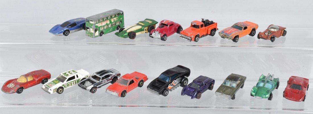 16 HOT WHEELS & MATCHBOX CARS SOME REDLINE
