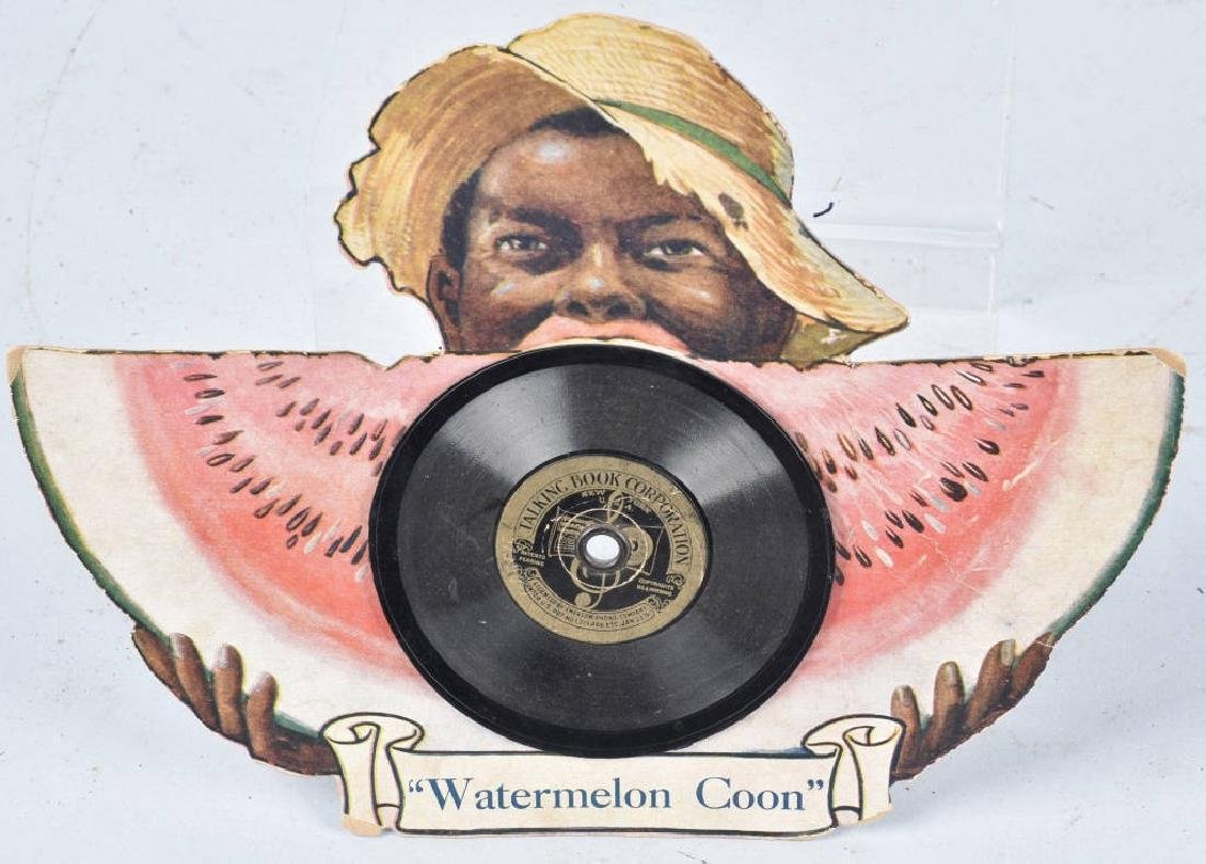 WATERMELON COON TALKING BOOK RECORD & CUTOUT