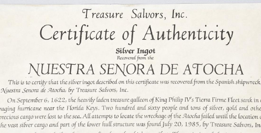 1622 ATOCHA SHIPWRECK SILVER BAR 1045 Troy Ounces - 3