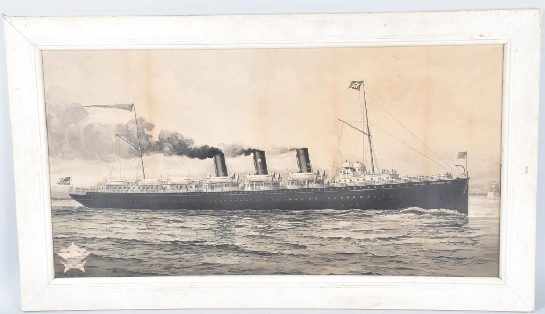 NORTHERN STEAMSHIP CO LITHO ADVERTISING SIGN