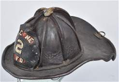 Early CAIRNS & BROS LEATHER FIRE HELMET