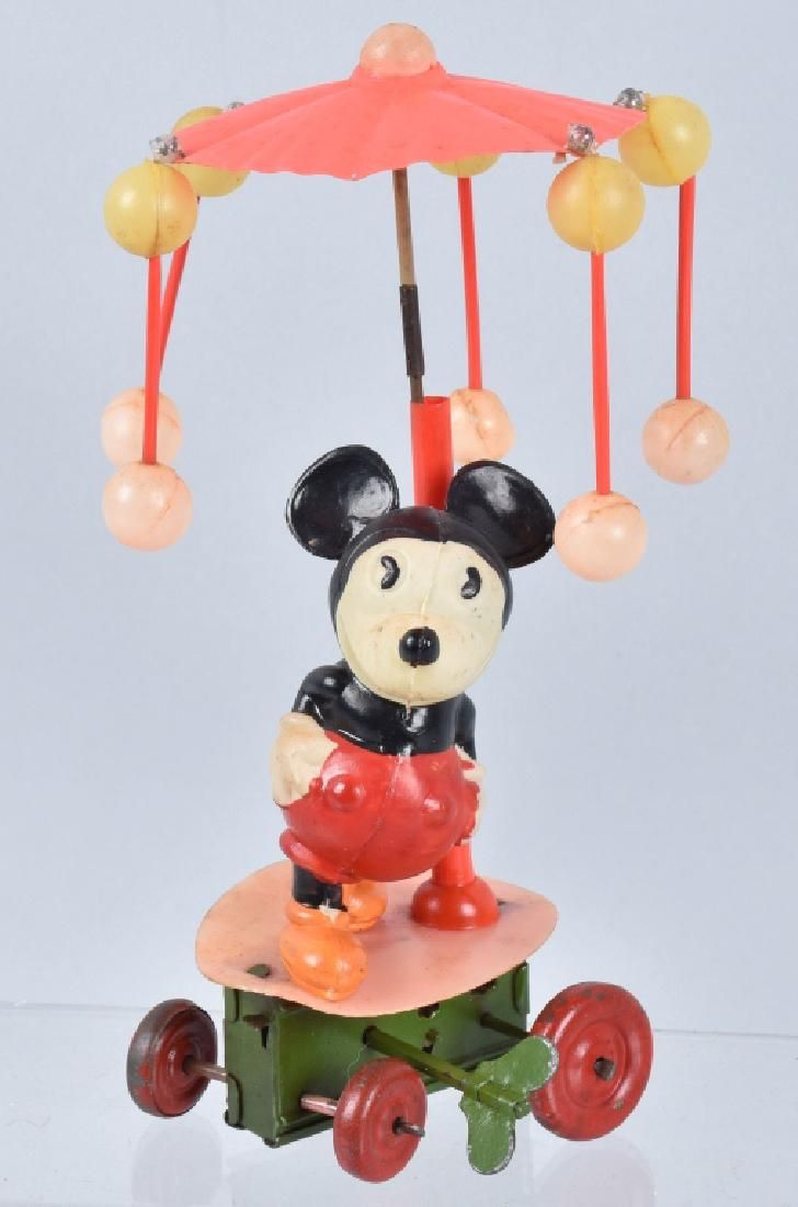 JAPAN Celluloid Windup MICKEY MOUSE WHIRLYGIG