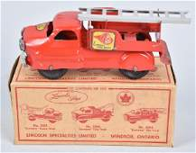 LINCOLN TOYS FIRE TRUCK NO. 5203, BOXED