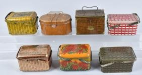 7-TOBACCO ADVERTISING BASKET TINS