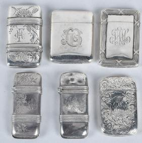 6-STERLING SILVER MATCH HOLDERS