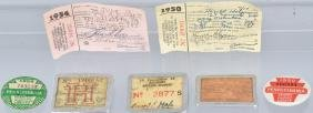 7-VINTAGE HUNTING and FISHING LICENSES