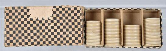 70EARLY POKER CHIPS in ORIGINAL BOX