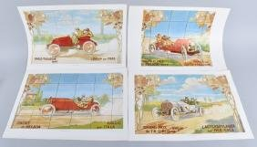 24-LARGE MICHELIN HOUSE PRINTS of RACE CARS