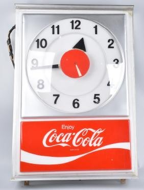 LARGE VACUFORM ENJOY COCA COLA CLOCK