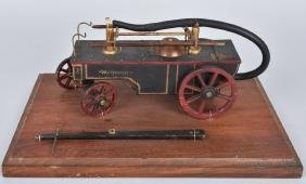 WOOD MODEL of EARLY PROTECTOR FIRE WAGON