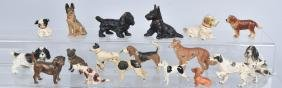 17-DOG CAST METAL PAPERWEIGHTS, HUBLEY and MORE