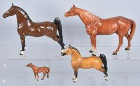 4-HUBLEY HORSES CAST IRON DOORSTOPS and MORE