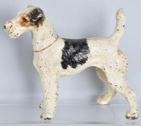 LARGE HUBLEY FOX TERRIER CAST IRON DOORSTOP