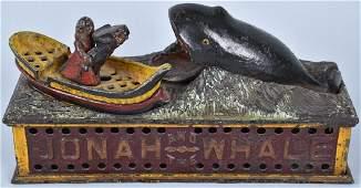 SHEPARD JONAH & THE WHALE MECHANICAL BANK