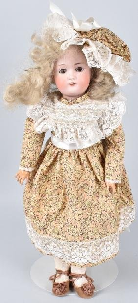 "22"" GERMAN BISQUE HEAD DOLL Marked 168"