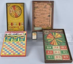 3-EARLY RACE GAMES and HORSE RACING PUNCH BOARDS