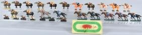 LARGE LOT of HORSE RACE HORSES and JOCKEYS