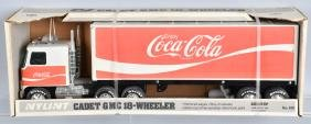 NYLINT COCA COLA SEMI TRUCK and TRAILER, BOXED