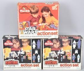 3- STAR WARS PLAY DOH ACTION SETS MIB