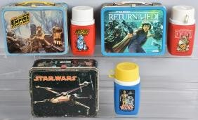 3- ORIGINAL STAR WARS LUNCH BOXES