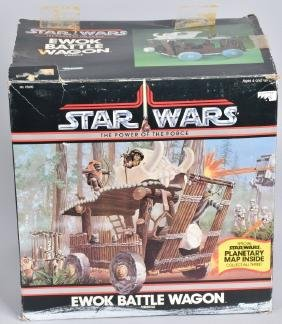 1985 STAR WARS POTF EWOK BATTLE WAGON MIB