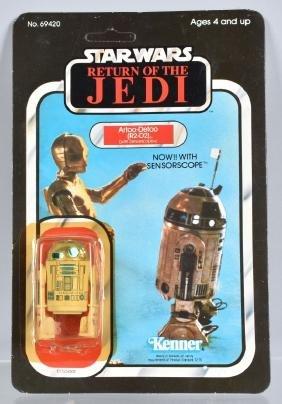 1983 STAR WARS ROTJ R2-D2 w/ SENSORSCOPE 65A MOC