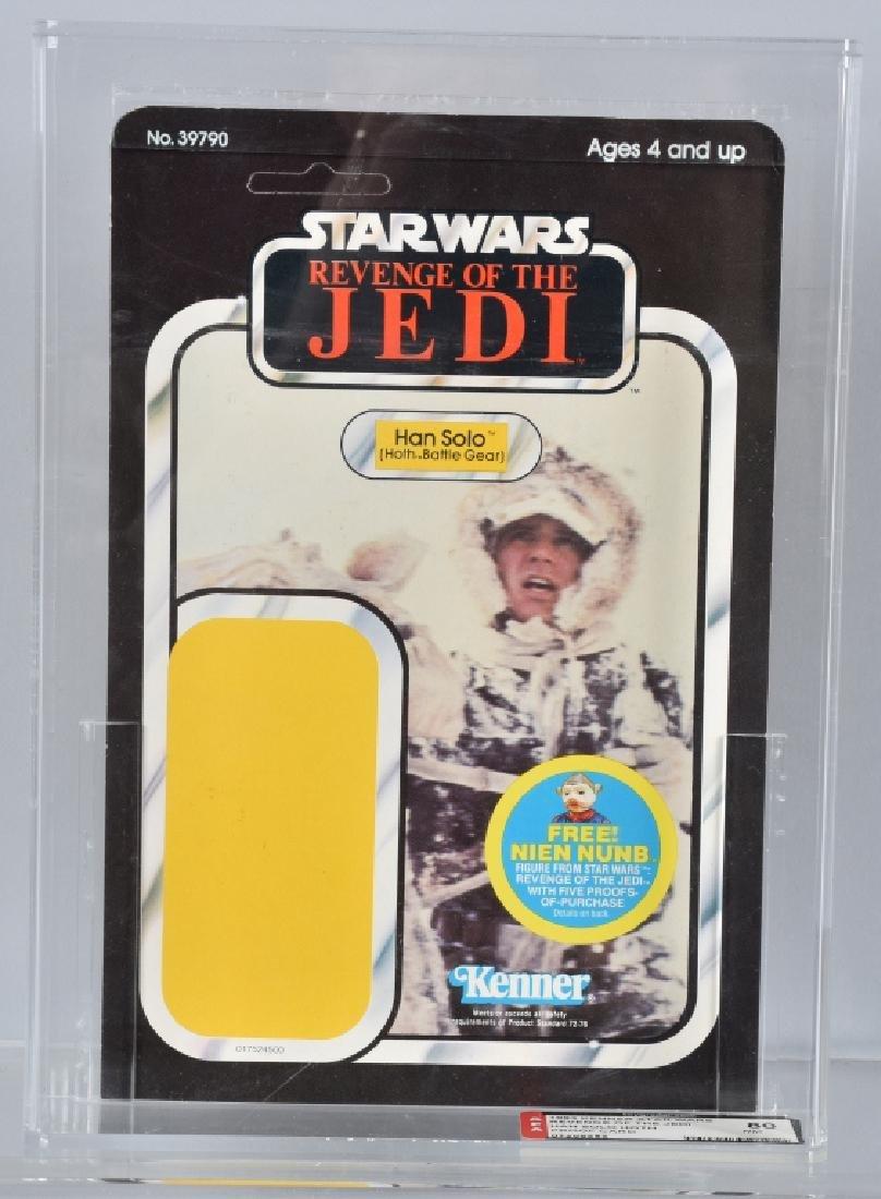 1983 STAR WARS ROTJ HAN SOLO PROOF CARD AFA 80