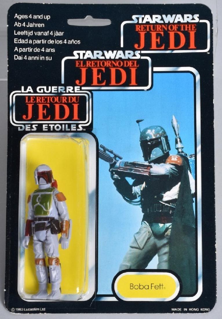 "1983 STAR WARS TRI LOGO BOBA FETT MOC ""RARE"""