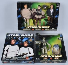 3- STAR WARS ACTION COLLECTION PIECES MIB