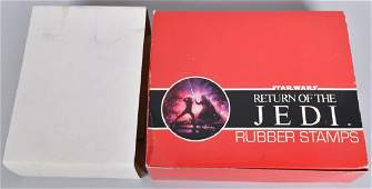 STAR WARS ROTJ STORE BOX OF RUBBER STAMPS