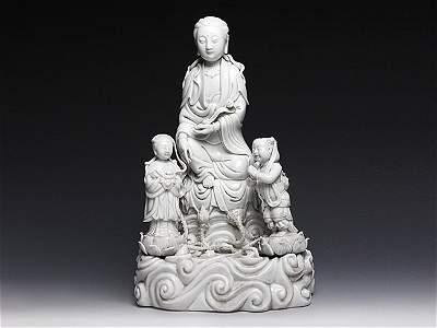 A Dehua porcelain Quan Yin