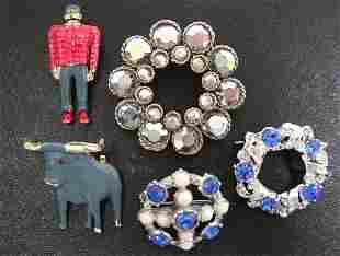 Vintage Babe Blue Ox Paul Bunyan Pins & Jewelry NR