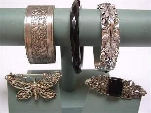 Vintage 5 pc. Whiting Davis Bracelet Plus More NR