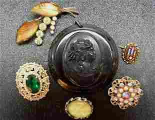 Vintage Coro-Bakelite-German Copper 6 pcs NR