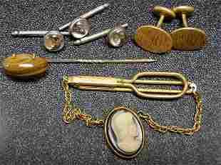 Vintage Costume Jewelry Lot Mens Jewelry NR