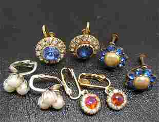 4 pair Vintage Earrings Some 1920's NR