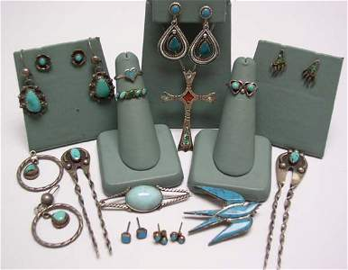 23: Vintage Indian Jewelry Some Sterling NR