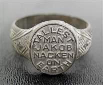 41: Vintage Giant Ring Jakob Naken Tallest Man NR