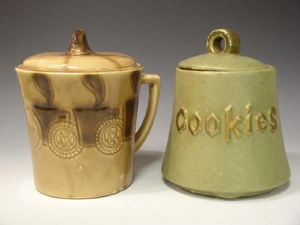 "202: Lot of 2 McCoy & USA Cookie Jars ""AS IS"""