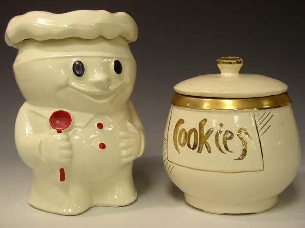 "208: Lot of 2 McCoy & USA  Cookie Jars ""AS IS"""